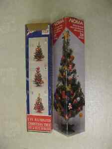 Two Miniature Christmas Trees
