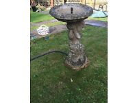 Stone bird bath / fountain