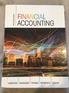 FINANCIAL ACCOUNTING Fifth Canadian Ed