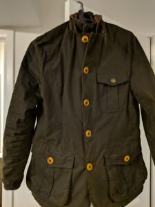 Barbour Kempt Waxed Jacket Size S