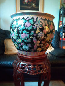 gros vase cache pot chinois / big chinese planter – AUBAINE !