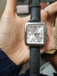 Square faced Coach watch