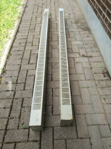 Electric baseboard heaters (2 units). 7 ft long.