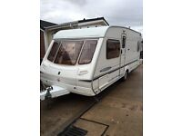 Abbey freestyle 540se 2003 caravan fixed bed end bedroom 4 berth