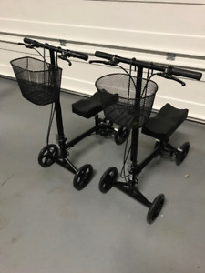2 KNEE WALKERS WITH ACCESSORIES