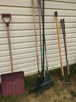 Shovelling and gardening tools