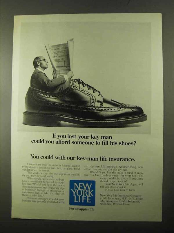 1971 New York Life Insurance Ad - Lost Your Key Man