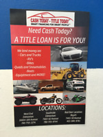 Collateral loan just for you today!