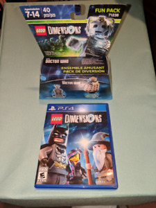 PS4 Lego Dimensions game and figures.