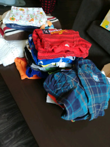 Baby boy clothes and blankets