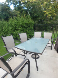 Patio Table with 6 Chairs - $200 for all