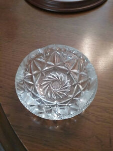 Cut glass crystal ashtray