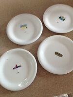 Set of desert plates