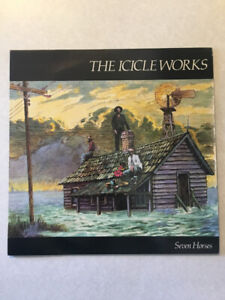 """THE ICICLE WORKS """"Seven Horses"""" Vinyl 12"""" Single (1985)(45 RPM)"""
