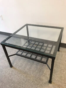 IKEA coffee table with glass top