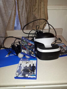 ps4 vr comes with 3 games Manuel nunchucks