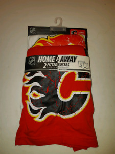 Calgary Flames Large Home & Away Fitted Boxers