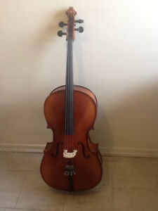 Cello - German made- Spruce and Maple, Padded case, bow, rosin