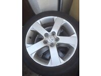 Mazda alloy wheels and tyres