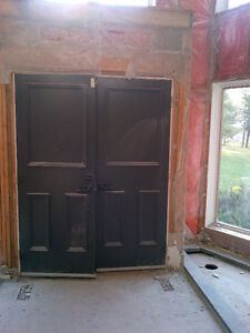 Double front door with great hardware