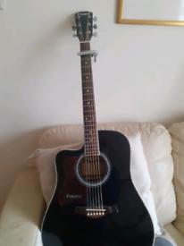 Left handed Westfield accoustic guitar