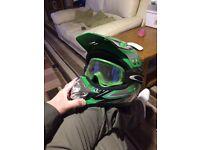 Ore mx helmet and Oakley goggles