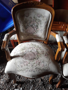 PAIR FRENCH STYLE BERGERON ARMCHAIRS