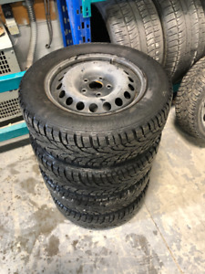 "Winter Tires and Rims VW 15"" with gislaved nordfrost tires 350$!"