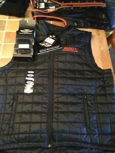 Harley Davidson heated black vest XXL - New with tags