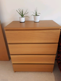 Ikea malm chest of four drawers, mint condition, Springbourne