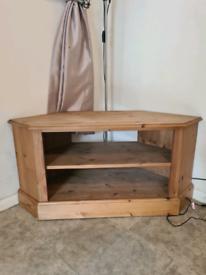 Pine Tv cabinet Corner unit