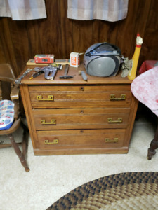 Downsizing - 3 drawer Vintage Cabinet - pickup in Caledonia