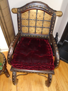 Beautiful Detailed Chair & stool/table  Decor Rocking Horse