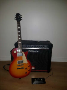 Guitare Électrique Jay Turser JT-220 Cherry Sunburst =Ampli