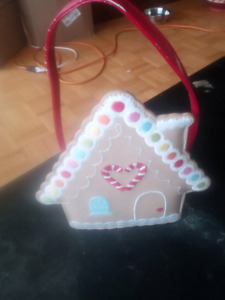 Gingerbread house kids purse with surprise goodies