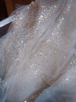 Sparkly Gold and White Tule Table Runners