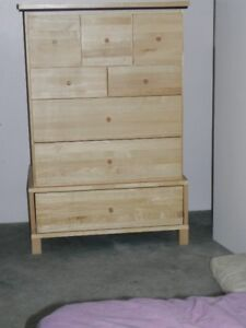 Solid pine 8 drawer chest of drawers