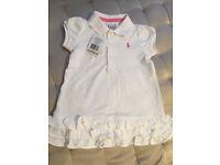 Ralph Lauren, baby girl summer dress, 9 months