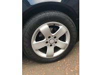 Mercedes 16 inch alloys with tyres