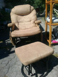 Rocking chair recliner with ottoman