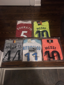 soccer jerseys - messi -ronaldo etc.