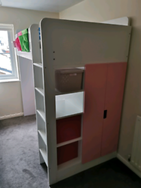 **NOW SOLD** Ikea Stuva High Bed In Pink and White