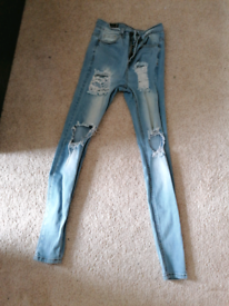 Sinners blue ripped jeans
