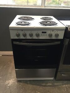 ASSEMBLY APPLIANCES STOVES SALE - WHITE AND STAINLESS STEEL