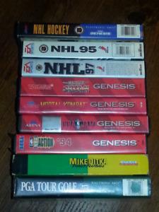 Lot of Vintage Sega Genesis Games