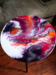 """Dancing Coral"" Resin side Table"