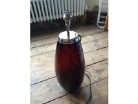 Laura Ashley glass lamp base x2