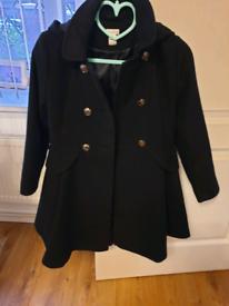 Monsoon girls navy coat