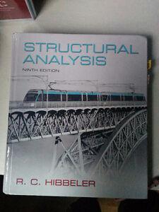 Structural Analysis ninth edition R.C. Hibbeler Windsor Region Ontario image 1
