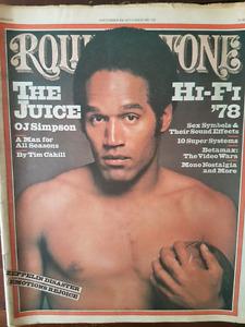 Rolling Stone Magazine 1978 OJ